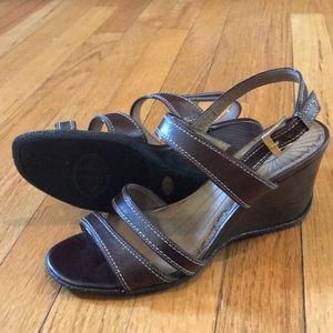 Circa Joan & David Brown Wedge Sandals